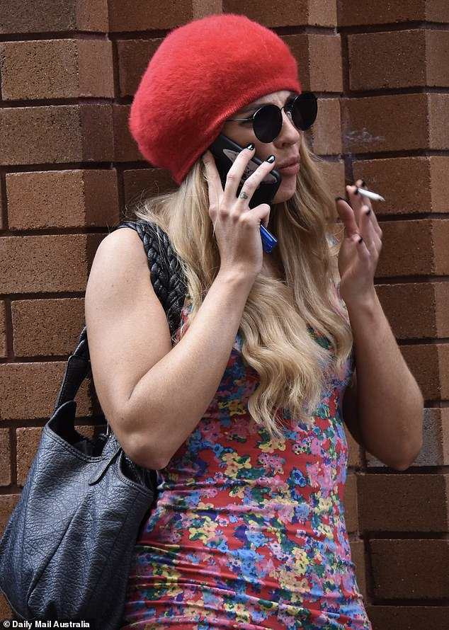 EXCLUSIVE: Married At First Sight's Booka Nile, 31, was spotted looking tense as she lit up a a cigarette following a heated an argument with her husband Brett Helling back in November