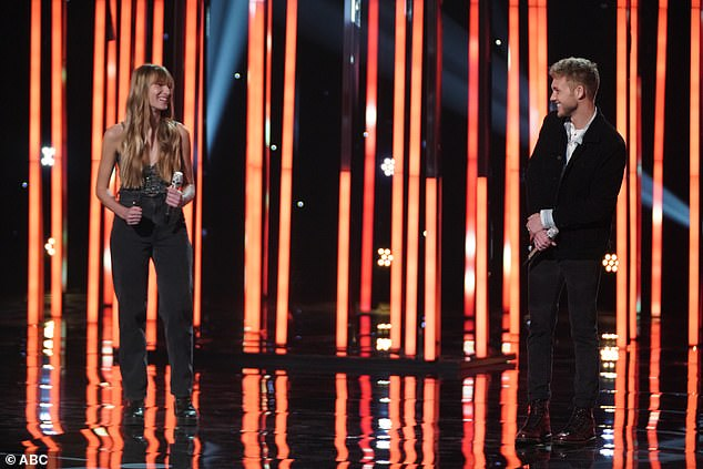 Star power:Ava August, 15, and Hunter Metts, 22, had Luke calling them both 'stars' with their incendiary take on Robyn's Dancing On My Own