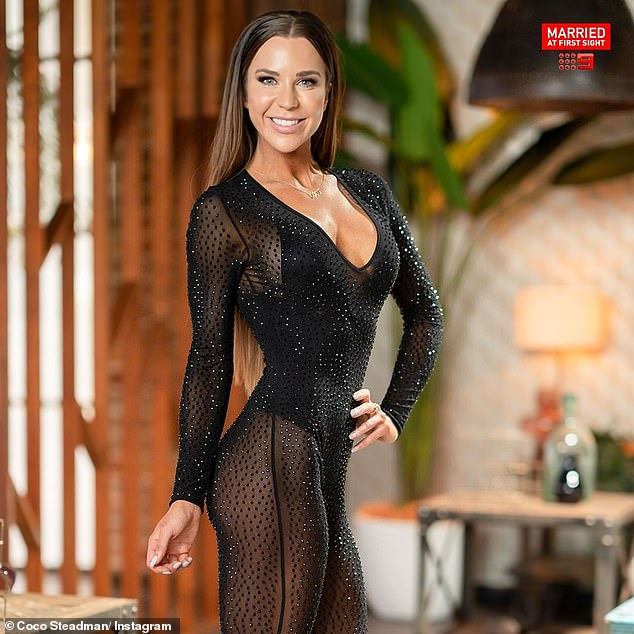 Va va voom! Coco famously put her sensational figure on display by wearing a a glittery, see-through jumpsuit to her final dinner party on MAFS