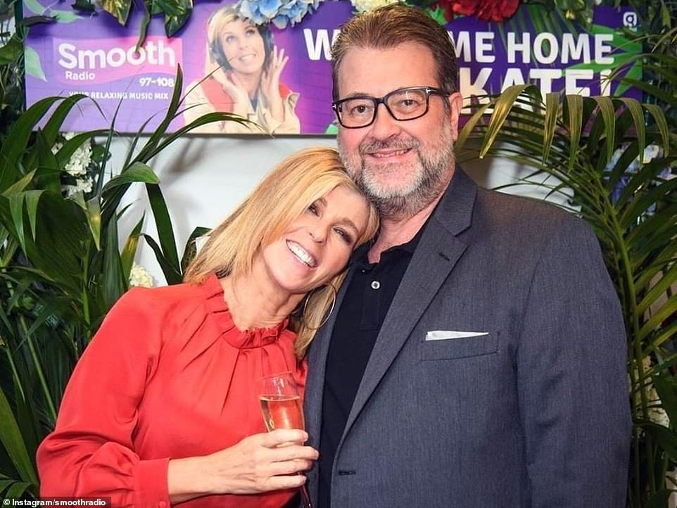 Heartbreaking:The presenter first invited a film crew into her home last September with the hope that the film would end with Derek returning home (pictured together prior to Derek's coronavirus battle)