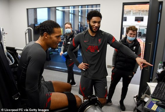 The Dutchman has been working hard in the gym with Joe Gomez who is also out for the season