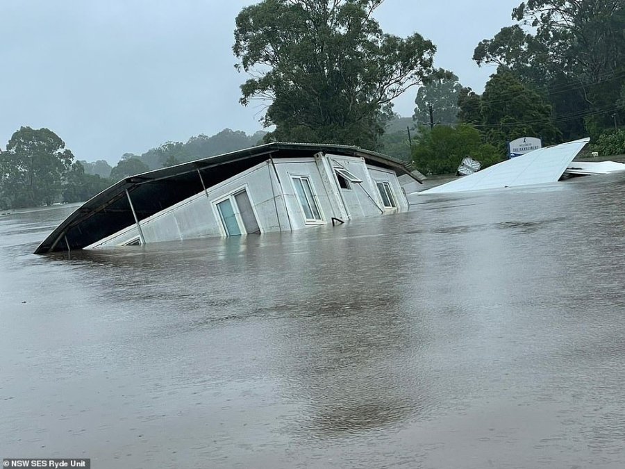 This image of a submerged home was shared by the NSW SES Ryde Unit who spent Tuesday evacuating residents at the Colo and Hawkesbury Rivers