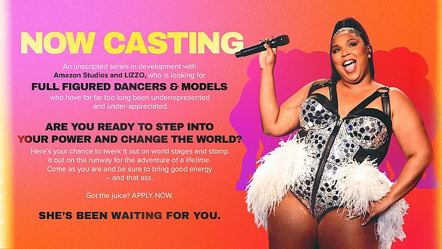 Requirements: 'Are you a full figured dancer or model? Have you felt underrepresented and under appreciated? THEN I'M LOOKIN FOR YOU! It's time to find my dream team of beautifully talented big grrrls,' she captioned a video celebrating the news