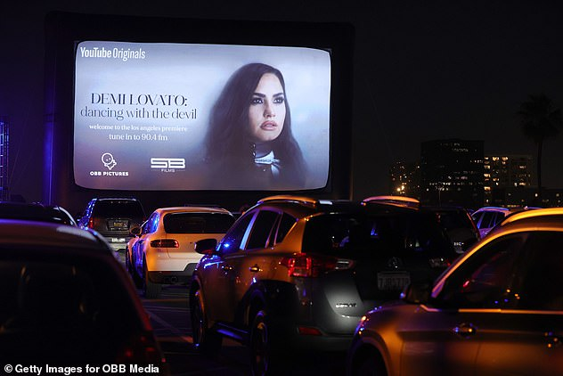 Get your popcorn!  Demi's four-part documentary debuted last night with a pop-up drive-in in Beverly Hills
