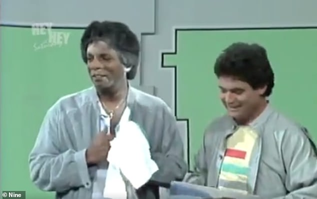 Controversial:In one segment, Kamahl's face was covered with white chalk dust while he sang