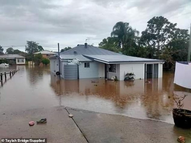 Parents Nikole and Shane are now homeless because of the flooding