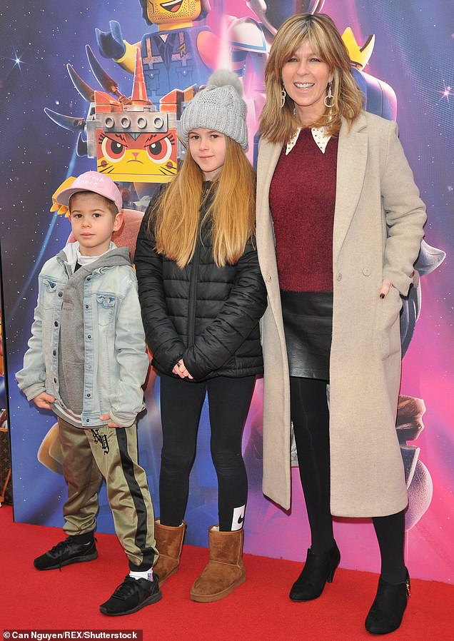 Sad: Kate – who shares Darcey, 15, and William, 11, (pictured in 2019) with her husband of 15 years– admitted it is 'shocking' to see his current state, including his eight stone weight loss