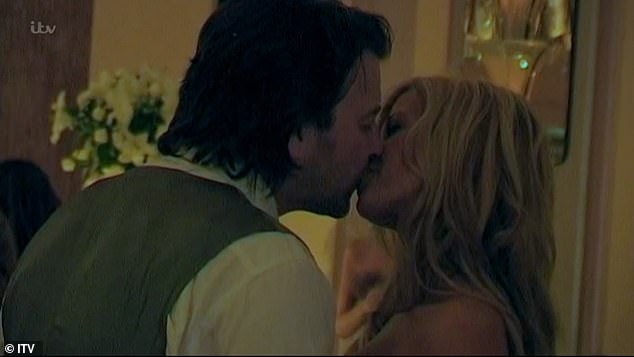 Sweet: In an emotional ending, it showed recent FaceTime between Derek and Kate where he said: 'Thank you, I love you forever and a day.' (pictured during their 2005 wedding)