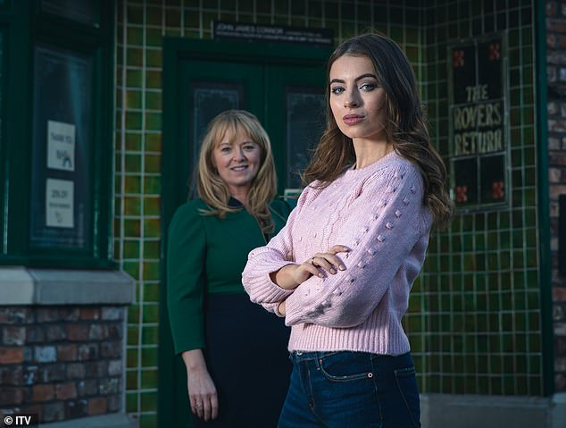 Character:Speaking in a new interview, the actress, 25, discussed the development of her character, stating: 'I¿d love her to be an iconic bad girl', while noting she has a 'dangerous' side to her (pictured as Daisy alongside Sally Ann Matthews as Jenny Connor)