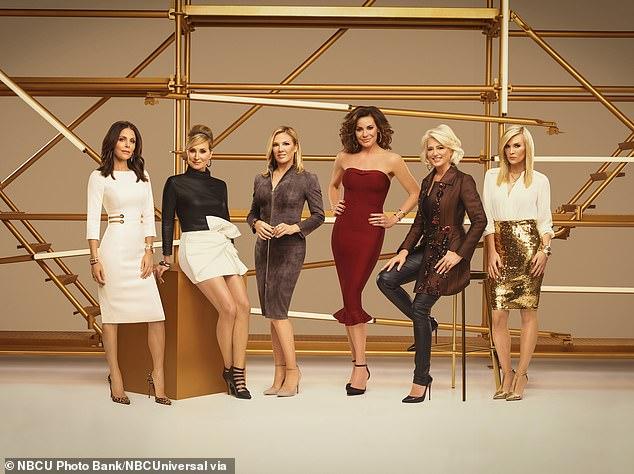 Farewell: Frankel left RHONY in 2019, after eight seasons on the hit reality TV series Bravo;  Pictured Bethenny Frankel, Sonja Morgan, Ramona Singer, Luann de Lesseps, Dorinda Medley, Tinsley Mortimer