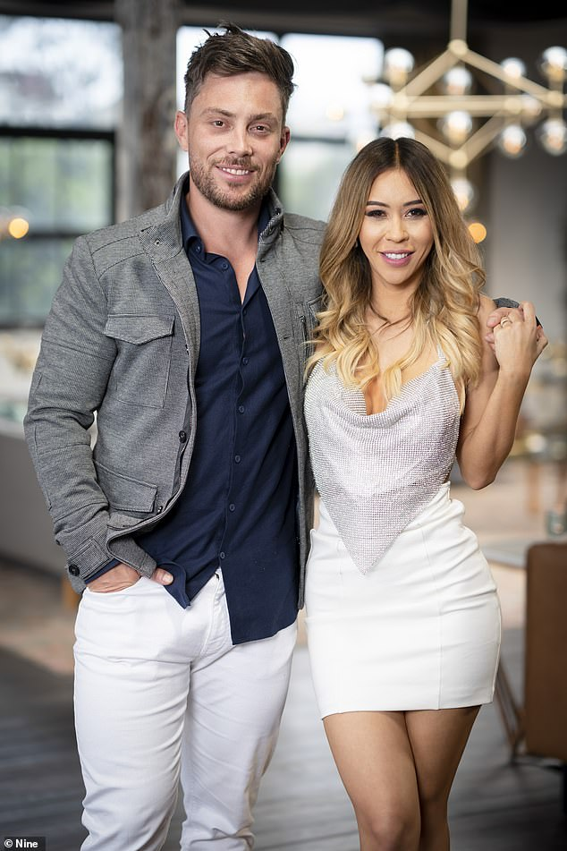 Will they last? Jason is still in the experiment with 'hot teacher' Alana (right)