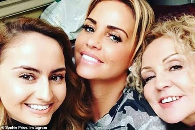 Half sisters: Katie and Sophie both share the same mother, Amy (pictured together in 2018)