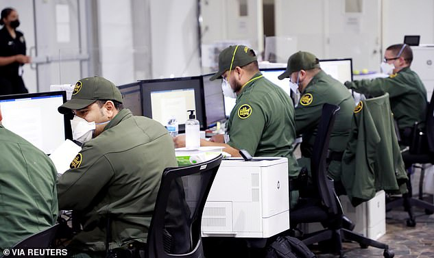 CBP personnel at work inside the Donna facility. Photos released Tuesday give a glimpse of what life is like inside the temporary processing facility in Donna, Texas, and the Central Processing Center in El Paso, Texas