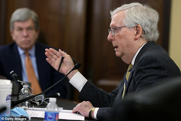 Senate Minority Leader Mitch McConnell called the voting rights legislation an 'atrocity'