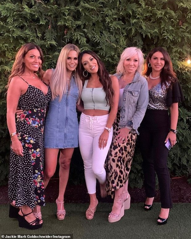 Squad: While her relationship with Teresa remains strained, Jackie is closer than ever to her co-stars Melissa Gorga and Margaret Josephs and was happy to learn that the other women were in her corner amid rumors that her husband was unfaithful to him.