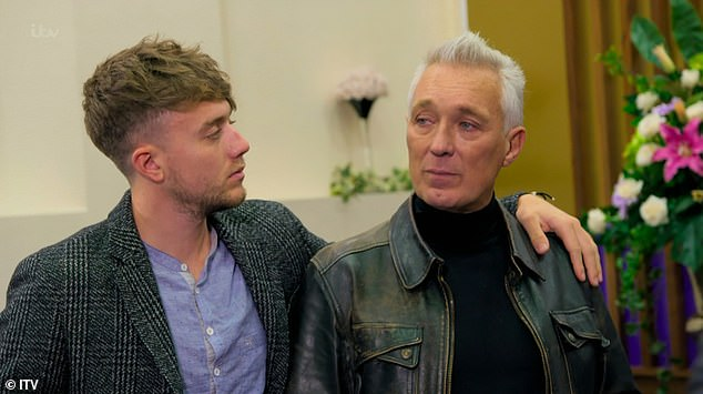 Emotional:Martin and Roman Kemp both broke down in tears during a 'touching' episode of DNA Journey on Wednesday