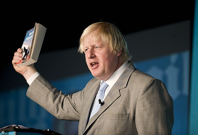 Boris Johnson, then London Mayor, was a speaker at the Chalke Valley History Festival in 2013