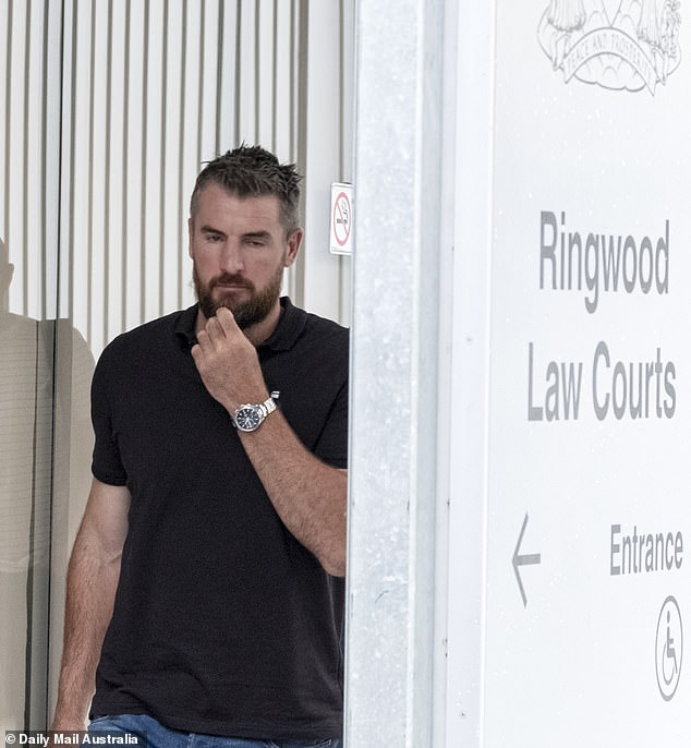 A dejected Darren Jolly fronted Ringwood Magistrates' Court on Thursday where he faces a swag of charges