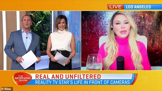 'I just love being who I truly am and not apologising for things':The former Real Housewives star was on the breakfast program to promote her podcast, Brandi Glanville Unfiltered