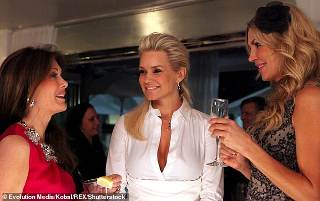 Memories: Brandi is one of the biggest stars to come out of the popular Bravo franchise. Pictured with Lisa Vanderpump (left) and Yolanda Foster (centre) in 2012