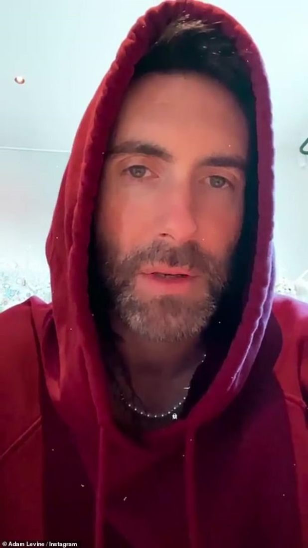Can't talk: 'I'm doing something this weekend that I can't talk about yet, but I'm very excited and it's a special little surprise,' Levine joked.