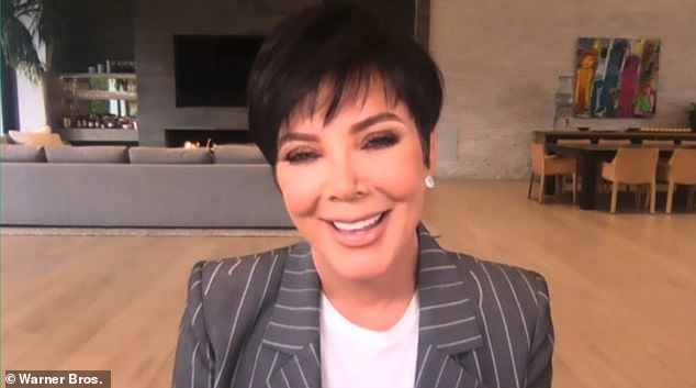Kris said remotely: 'I think that it's so great that they wanna do that again and have a sibling for [their two-year-old daughter] True.There's nothing better than a big family and brothers and sisters. And that's just my heart. So I'm really happy. I just want them to be happy'