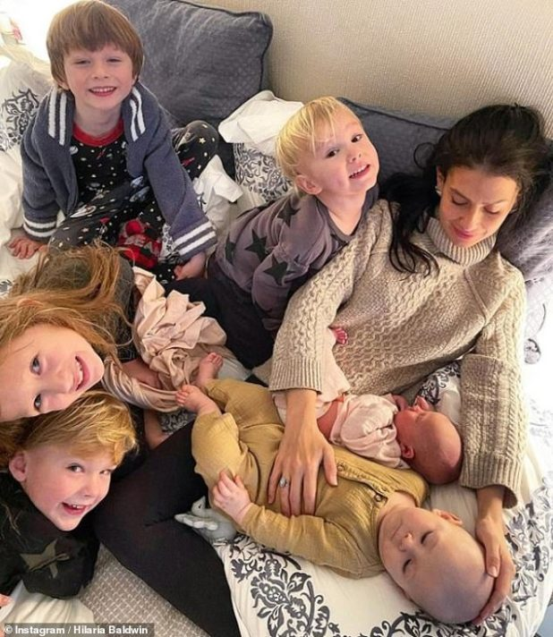 Surprise: Last month Hilaria and her husband Alec surprised fans by announcing the arrival of their sixth child by gestational route, six months after the birth of their son Eduardo.