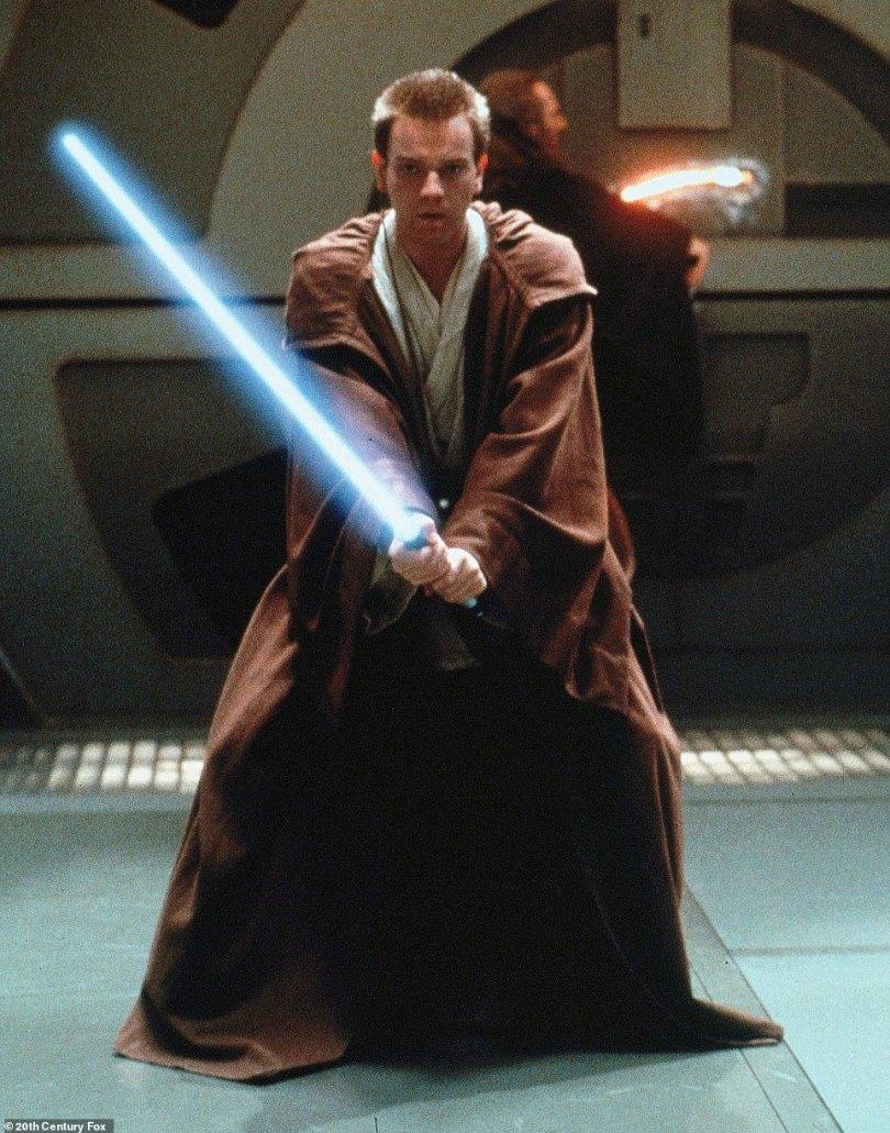 Obi Wan-Kenobi: It has been reported online in recent weeks that iconic Star Wars character Obi-Wan Kenobi will cross paths with Andor during the 12-part series (pictured actor Ewan McGregor as Kenobi in 1999)