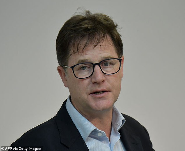 Nick Clegg's eldest son Antonio is understood to have attended London Oratory. Pictured: The former deputy PM