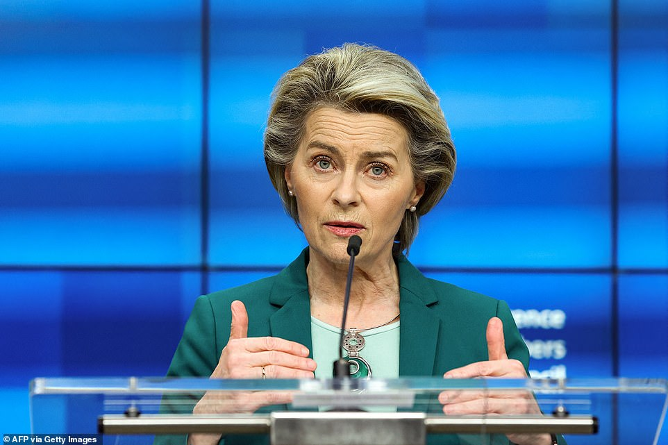 European Commission President Ursula von der Leyen maintained the tough stance, telling the news conference that AstraZeneca 'has to honour the contract it has with the European member states, before it can engage again in exporting vaccines'