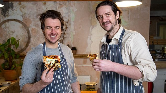 Welsh foodies Jez Phillips (left) and Ieuan Harry (right) motored around Naples in their three-wheeler on The Pizza Boys (BBC2)
