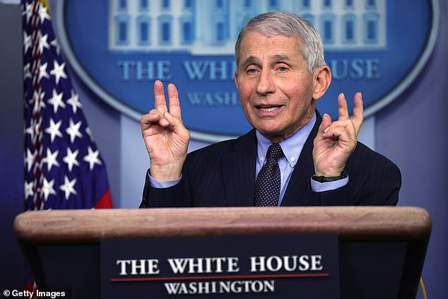 Makary blasted Fauci, pictured, for being 'around' forSars-CoV-1 but missing the mark onSars-CoV-2