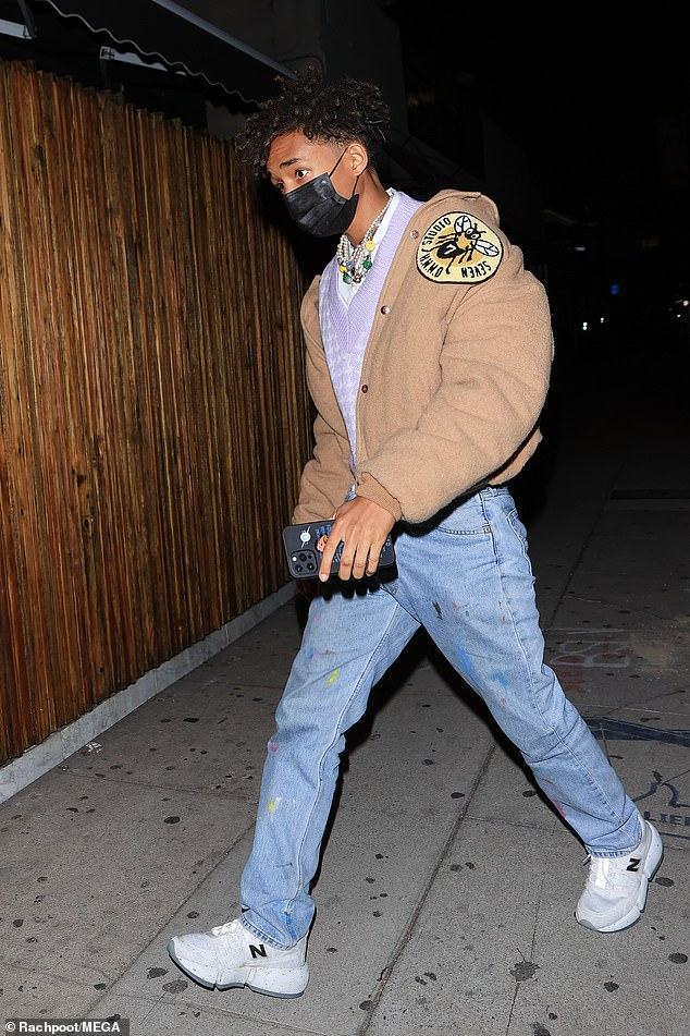 Jaden arrives:Jaden Smith was also in attendance, also staying safe amid COVID-19 with a black facemask