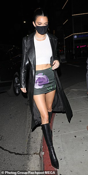 Kendall arrives:Supermodel Kendall Jenner was among the many of the couple's famous friends to celebrate the launch at the swanky soiree