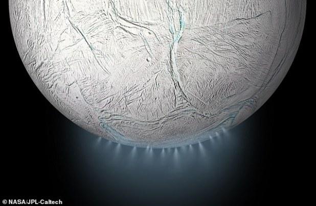 Enceladus' outer shell
