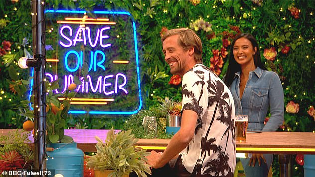 Comeback: Peter is returning alongside Maya Jama for a re-branded version of his BBC1 show Save Our Summer during this year's European Championships (pictured last year)