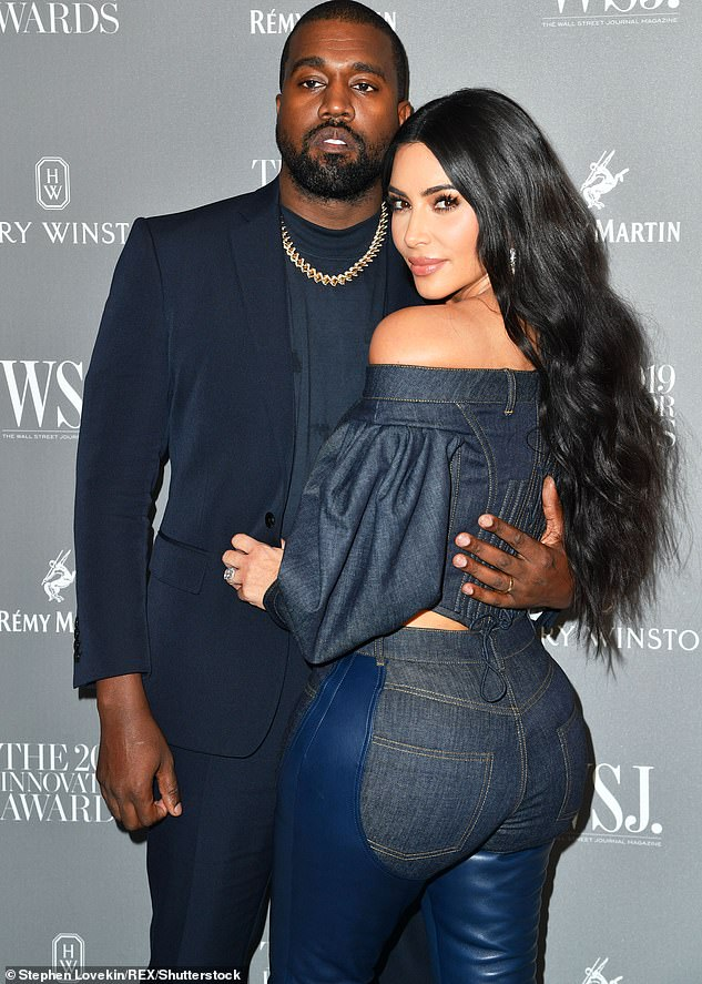 End of the road:Kim finally filed for divorce this February after about a month of rumors that she and Kanye were on the verge of breaking up; pictured in 2019