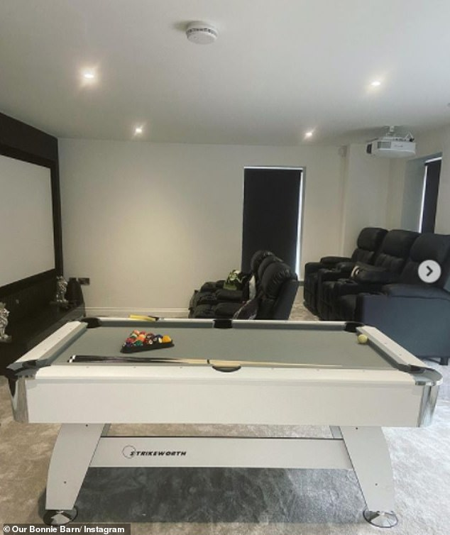 Wow:Speaking on the podcast All Round Mine, she detailed the benefits of building her own home as she can tailor it to her own specification - including her very impressive entertainment space