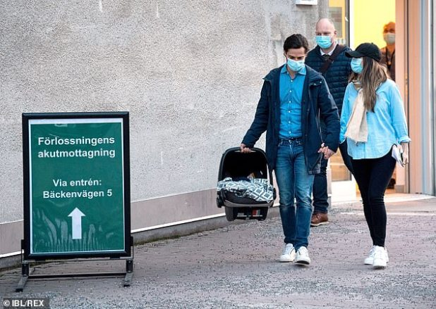 Princess Sofia of Sweden and her husband, Prince Carl Philip, made a show of love as they left the hospital holding hands and with their newborn son.
