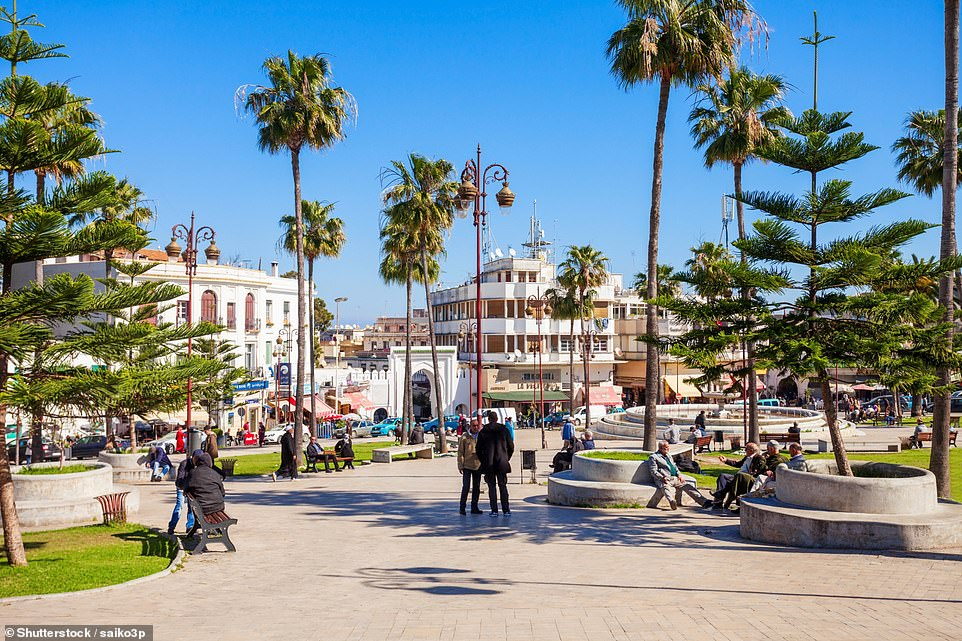 Glenys writes of Tangier: 'It's a heady mix of sophistication and tradition. I love to see shepherds still grazing their flocks next to the traffic and the Berber women bringing fresh produce from the hills.' Pictured is the city's square