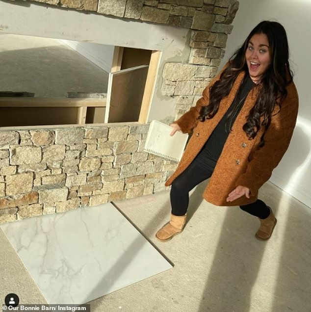 Makeover:The former Gogglebox star then went on to detail the rest of her house, which she purchased late last year after she sold her former County Durham home for £395,000 in December, one week after putting it on the market