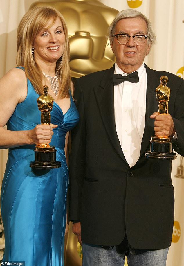 Big achievement: McMurtry was known for his work on the screenplay for the 2005 film Brokeback Mountain, which he collaborated on with Diana Ossana; the writing pair are pictured in 2006