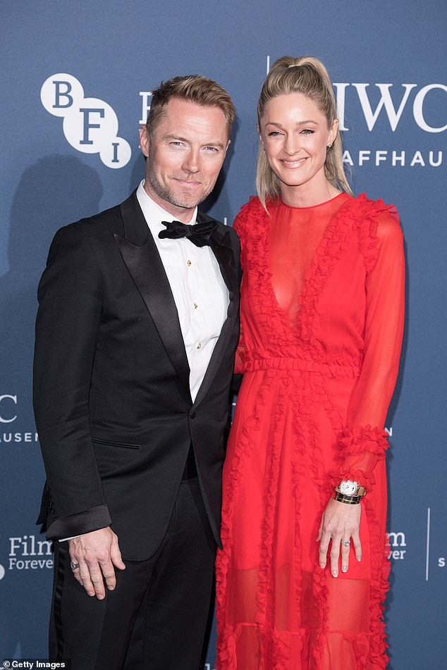 Shock: However, Ronan Keating's wife, 39, revealed that things took a serious turn when it was found that she had Ponytail Squeeze / Squeeze Syndrome, which is a type severe spinal stenosis which causes severe compression of the nerves in the lower back.