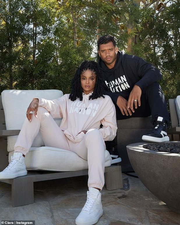 Model Behavior: Ciara and Russell recently modeled pieces for their Human Nation brand, which they proudly shared on their respective Instagram pages.