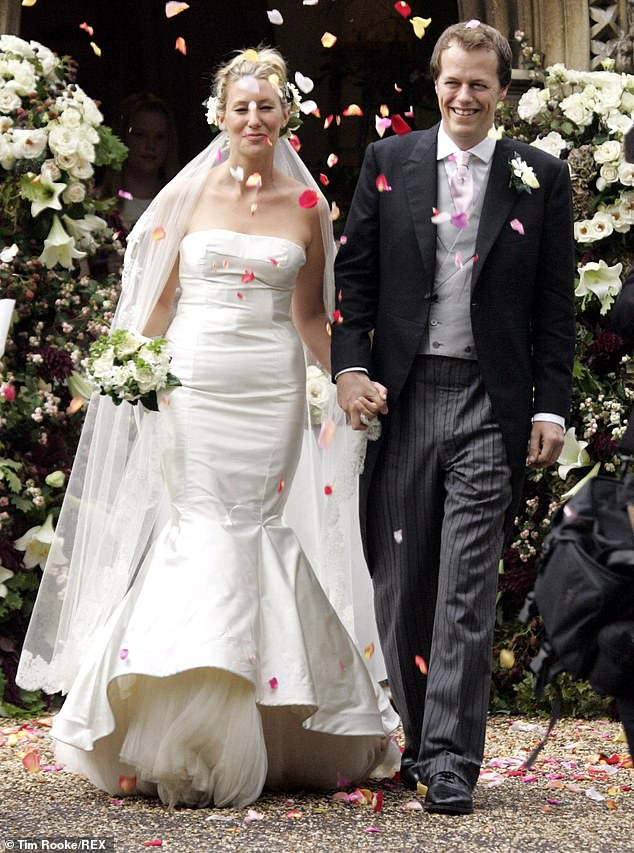The wedding of Tom and fashion writer wife Sara Buys in 2005. The pair separated in 2018