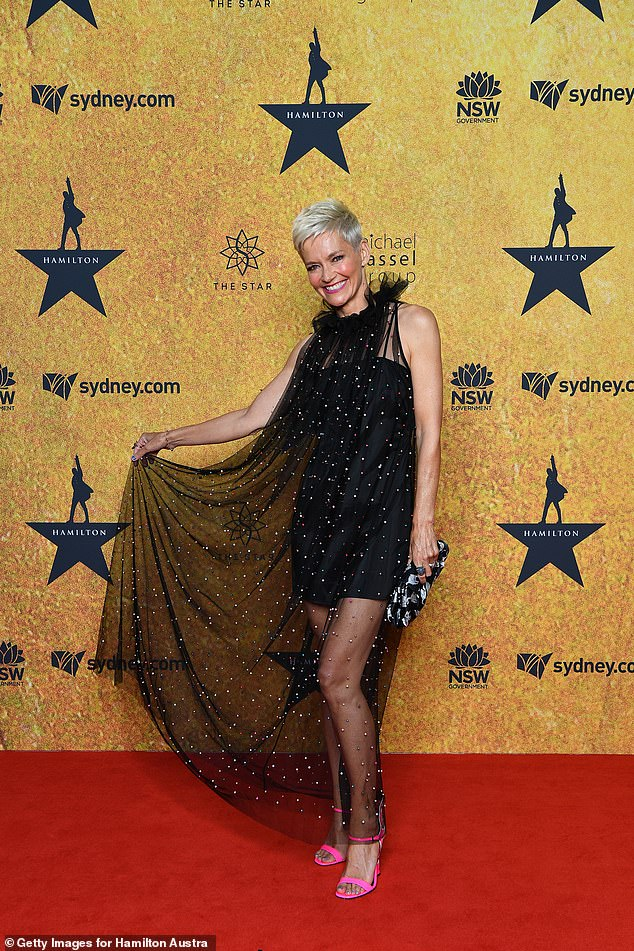 Wow!Jessica Rowe (pictured) absolutely stunned in a mini dress with a long black sheer panel that showed off her slim pins