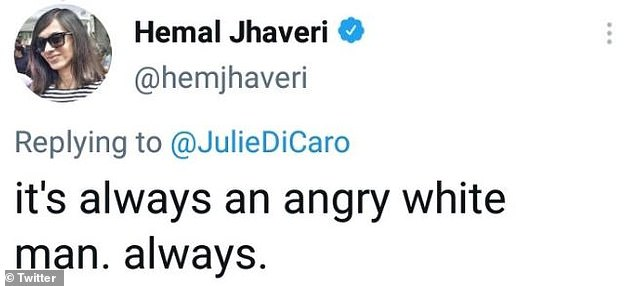 Jhaveri quickly deleted her tweet but it was too late to save her job