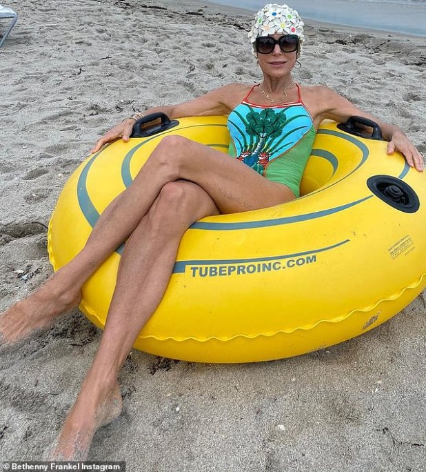 Legs for Days: Earlier this week, Bethenny was on vacation in Florida and posted this Instagram photo Thursday saying goodbye to her vacation.