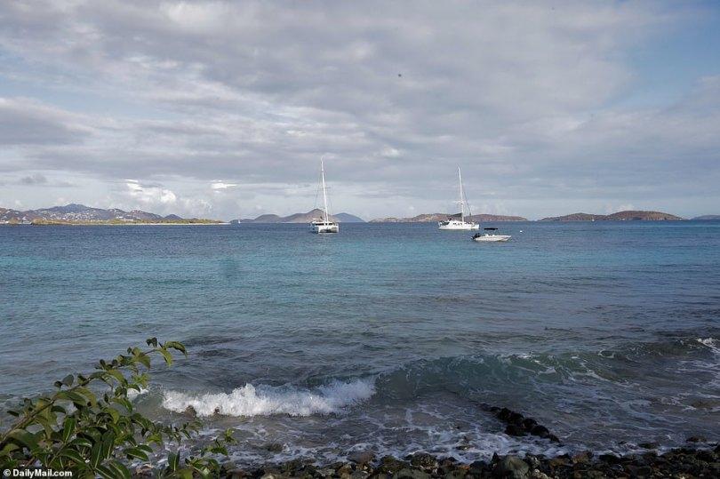 Ryan Bane's boat is no longer sat in Frank Bay on Saint John in the US Virgin Islands as of early morning on Thursday