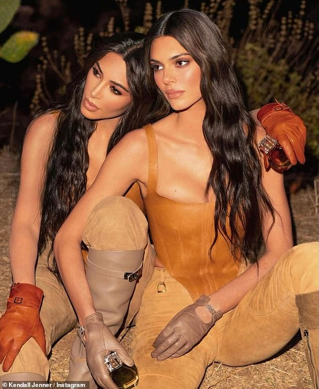 Staying busy: Although she is dealing with a divorce from West, Kim Kardashian and Jenner recently released a collaborative perfumer through the former's KKW Fragrance line